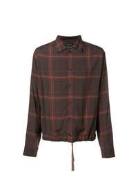 Dark Brown Print Long Sleeve Shirt