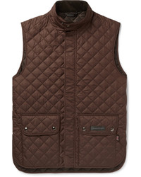 Dark Brown Quilted Gilet