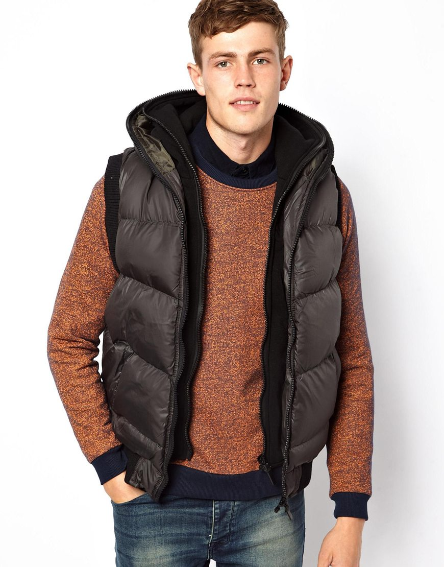 Brave Soul Hooded Padded Gilet