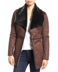 Abigail faux shearling coat medium 793424