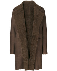 Vince Shearling Trim Coat