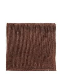 Dark Brown Silk Pocket Square