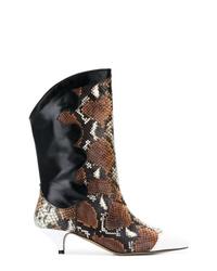 Ganni Snakeskin Print Boots