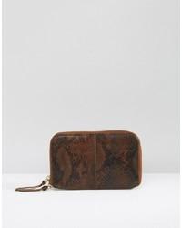 Urbancode faux snakeskin leather zip around clutch bag medium 1156165