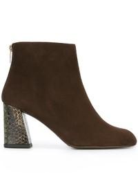 Contrast heel ankle boots medium 847429