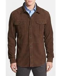 Façonnable Faconnable Short Suede Leather Shirt Jacket Medium