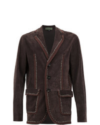Dark Brown Suede Blazer