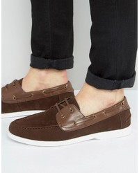 Boat shoes in brown faux suede medium 3706979