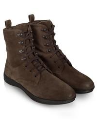 Dark Brown Suede Casual Boots