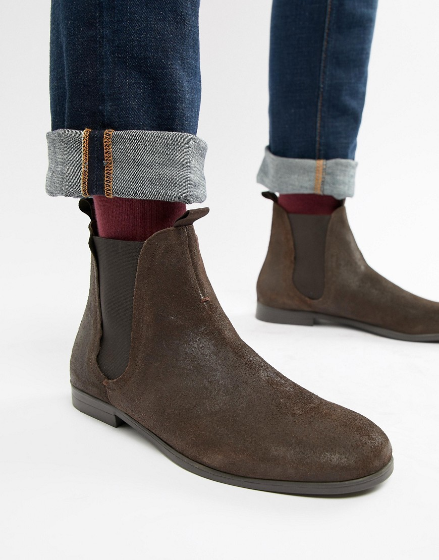 Atherston Chelsea Boots In Brown Suede