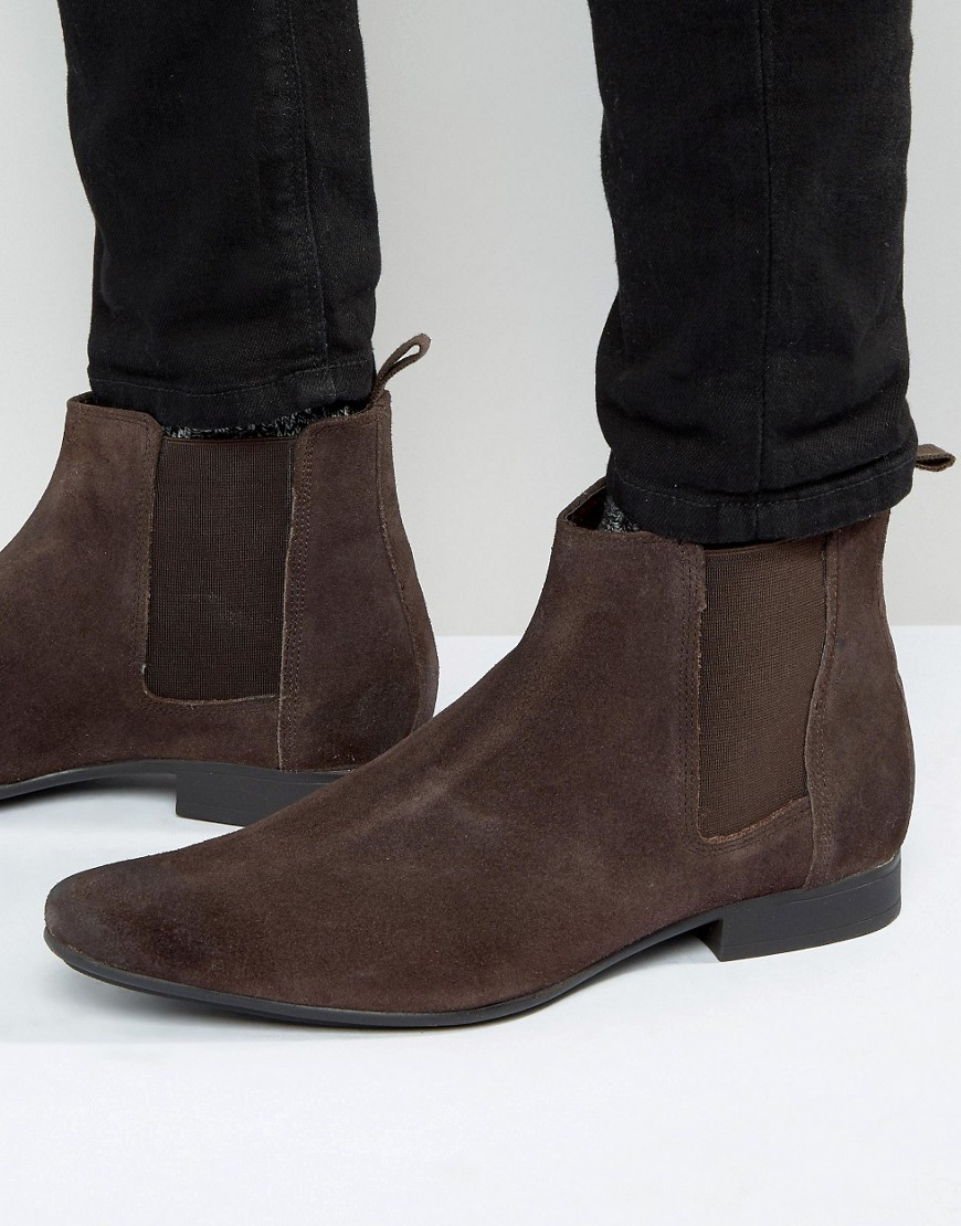 Frank Wright Chelsea Boots In Brown