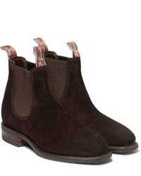 R.M. Williams Comfort Craftsman Suede Chelsea Boots