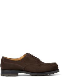 Jm weston goodyear welted suede derby shoes medium 383523