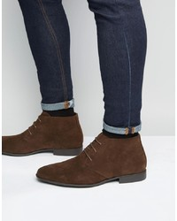 ASOS DESIGN Chukka Boots In Brown Faux Suede