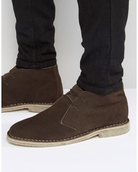 Desert boots in brown suede wide fit available medium 1155635