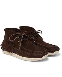 VISVIM Voyageur Moc Shaman Folk Fringed Suede Boots
