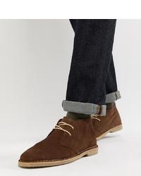 ASOS DESIGN Wide Fit Desert Boots In Brown Suede