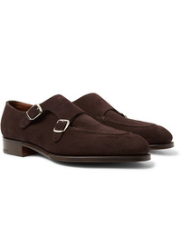 Edward Green Fulham Suede Monk Strap Shoes