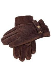 Dark Brown Suede Gloves
