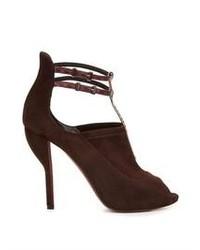 Nicholas Kirkwood Peep Toe Suede Sandals