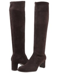 Dark Brown Suede Knee High Boots