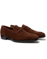 Kingsman George Cleverley Suede Penny Loafers