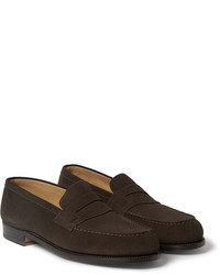 Jm weston 180 the moccasin suede loafers medium 186076