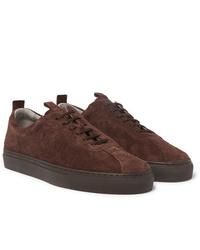 Grenson Textured Suede Sneakers