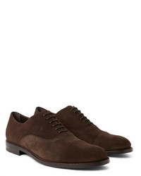 Tod's Cap Toe Suede Oxford Shoes