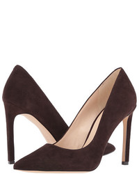 Dark Brown Suede Pumps