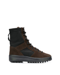 Yeezy Lace Up Panelled Military Boots