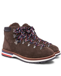 Moncler Peak Shearling Lined Suede Boots