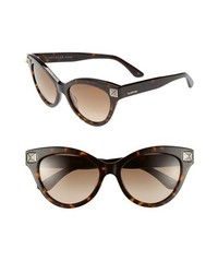 Valentino 53mm Cat Eye Sunglasses Dark Havana One Size