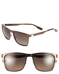 BOSS 57mm Polarized Sunglasses Matte Black