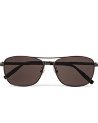 Montblanc Aviator Style Gunmetal Tone Polarised Sunglasses