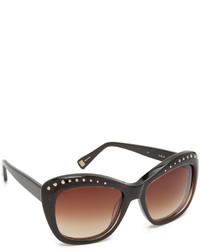 Oscar de la Renta Crystal Brow Sunglasses