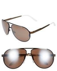 Carrera Eyewear 65mm Aviator Sunglasses Matte Black Grey Gradient