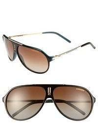 Carrera Eyewear Hot 64mm Sunglasses Brown Blue