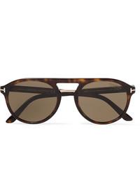 Tom Ford Jacob Aviator Style Tortoiseshell Acetate Sunglasses