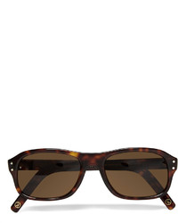 Kingsman Cutler And Gross Tortoiseshell Acetate Square Frame Sunglasses