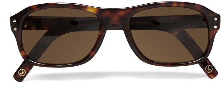 6870ff2b14 ... Kingsman Cutler And Gross Tortoiseshell Acetate Square Frame Sunglasses  ...