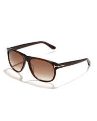 Tom Ford Olivier Plastic Sunglasses Brown