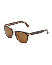Tom Ford Rock Clubmaster Sunglasses Shiny Brown
