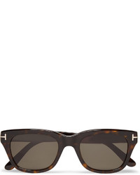 Tom Ford Snowdon Square Frame Tortoiseshell Acetate Sunglasses