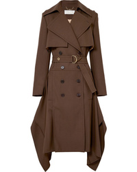 Chloé Double Breasted Wool Gabardine Trench Coat