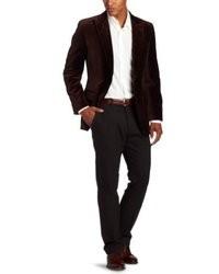 Dark Brown Velvet Blazer