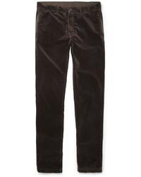 Dark Brown Velvet Jeans