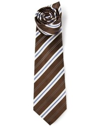 Dark Brown Vertical Striped Tie