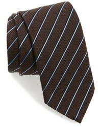 Ermenegildo Zegna Stripe Silk Wool Tie