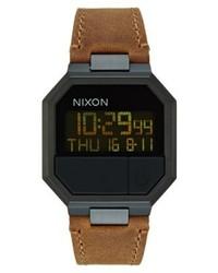 Re run digital watch black brown medium 4135979
